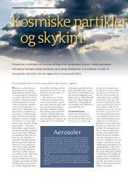 Kosmiske partikler og skykim - Aktuel Naturvidenskab