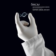 RAPPORT ANNUEL 2010-2011 - IRCM