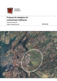 Program för detaljplan för verksamheter Fjällbacka - Tanums kommun