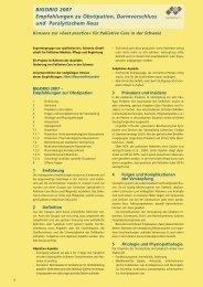 Obstipation, Darmverschluss und paralytischer Ileus - Palliative ch