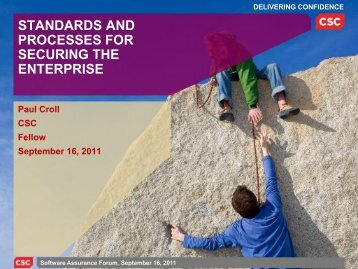 standards and processes for securing the enterprise - Build Security In