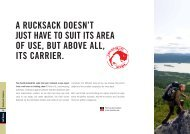 A RUCKSACK DOESN'T JUST HAVE TO SUIT ITS ... - E-biwak.pl
