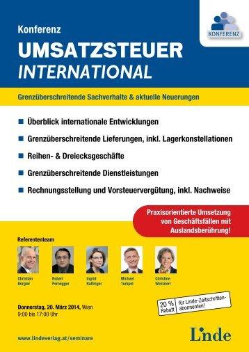 GRenzübeR- schReitende liefeRunGen - Linde Verlag
