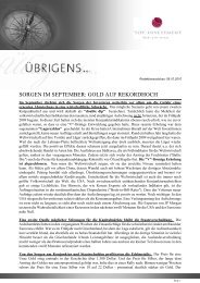 Newsletter vom 08. Oktober 2010 - TOP-Investment GmbH