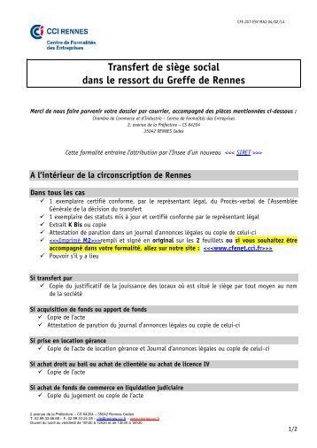 609 defis sarl s for Chambre de commerce rennes