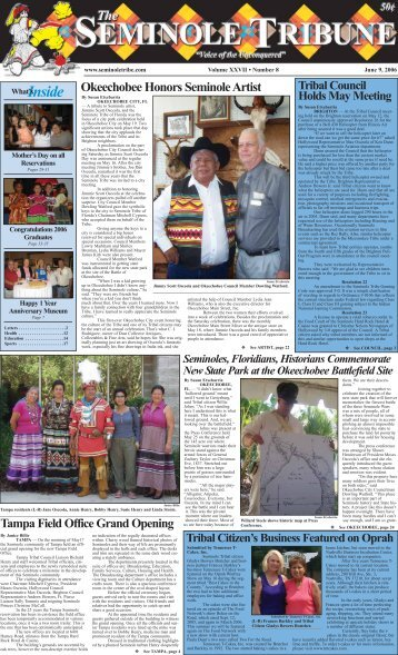 June 9 - Seminole Tribe of Florida