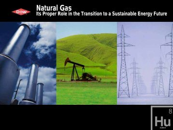 Natural Gas: Its Proper Role in the Transition to a Sustainable ...