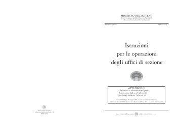 Istruzioni per le operazioni degli uffici di sezione - Ministero Dell ...