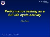 Dynamic Testing - The Workshop On Performance and Reliability