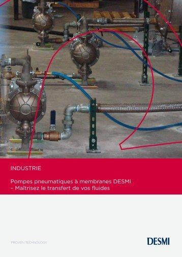 INDUSTRIE Pompes pneumatiques à membranes DESMI ...