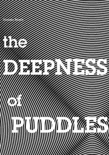 The deepness of puddles