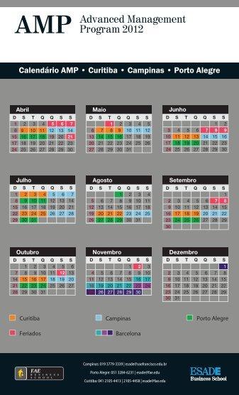 calendario 2012_ESADE-AMP - FAE