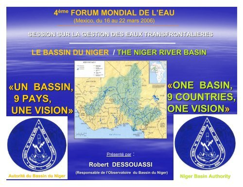 «UN BASSIN, 9 PAYS, UNE VISION» «ONE BASIN, 9 ... - INBO