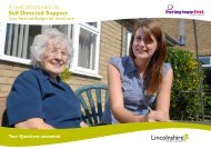 A brief introduction to Self Directed Support - Lincolnshire County ...