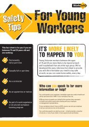 Safety Tips for Young Workers - WorkSafe Victoria