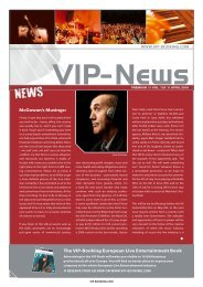 McGowan's Musings: The VIP-Booking european live entertainment ...