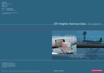 at a glance ATP Freighter Technical Data - Regional-Services.com