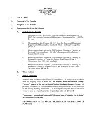 Council Agenda Monday, August 20, 2007 - City of St. John's