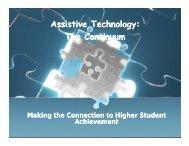 Assistive Technology: Assistive Technology The Continuum ...