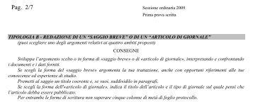 La traccia (in pdf) - Corriere della Sera