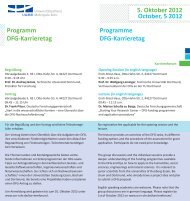 Programm DFG-Karrieretag 5. Oktober 2012 October, 5 2012 ...
