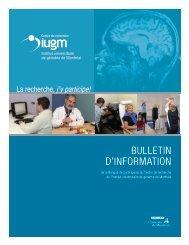 BULLETIN D'INFORMATION - CRIUGM