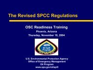 The Revised SPCC Regulations