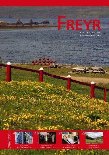 Freyr - 1. tbl. 2007 - Landbunadur.is
