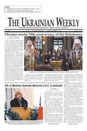 Ukraine marks 75th anniversary of the Holodomor - The Ukrainian ...
