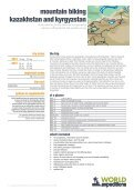mountain biking kazakhstan and kyrgyzstan - World Expeditions - Page 2