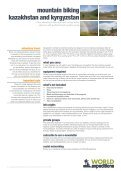 mountain biking kazakhstan and kyrgyzstan - World Expeditions - Page 6