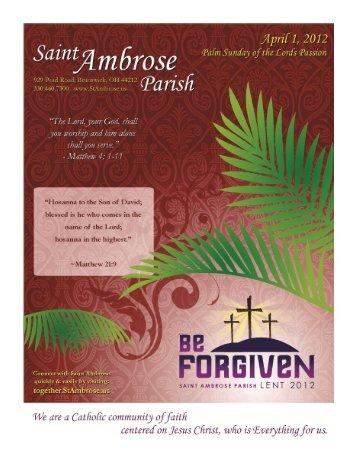 April 1, 2012 - Saint Ambrose Parish