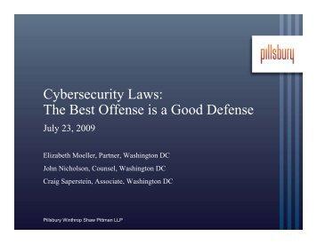 The Best Offense is a Good Defense - Pillsbury Winthrop Shaw ...