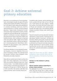 Goal 2: Achieve universal primary education - Economic ...