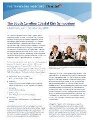 The South Carolina Coastal Risk Symposium - Travelers Insurance