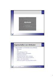 Attribute Eigenschaften von Attributen - Telematik TH Wildau