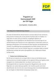 Zukunft gestalten - Kompetenz wählen - FDP Telgte