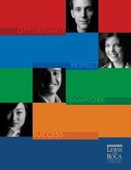 Recruitment Brochure - Lewis and Roca LLP