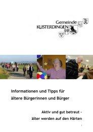 Informationen und Tipps für ältere Bürgerinnen und ... - Die Härten