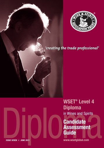 Candidate Assessment Guide - Wine & Spirit Education Trust