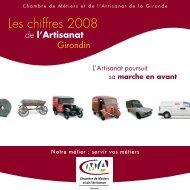 Les chiffres 2008 - Chambre de métiers et de l'artisanat