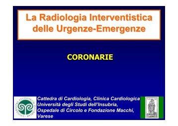 Coronarie - Università degli Studi dell'Insubria