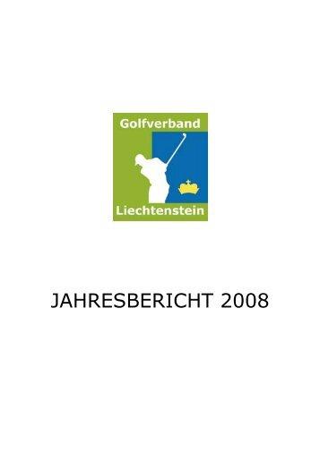 JAHRESBERICHT 2008 - Golf-verband.li