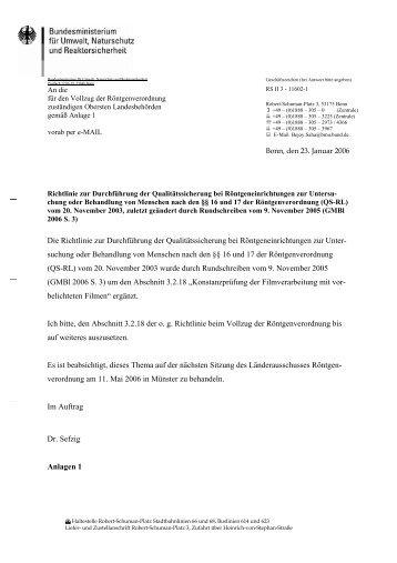 Die Richtlinie zur Durchführung der Qualitätssicherung bei ...
