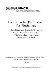 Internationaler Rechtsschutz für Flüchtlinge - unhcr