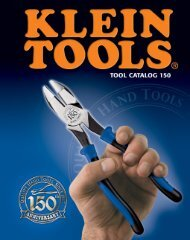 Klein Tools Catalog - Womack Electric Supply Company