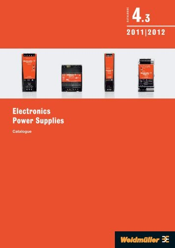 Каталог Weidmuller: Electronics – Power Supplies