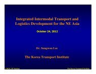 Integrated Intermodal Transport and Logistics Development for the ...