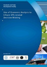 Use of Economic Analysis to Inform SPS-related Decision-Making ...