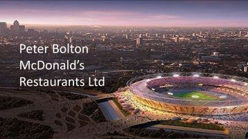 Peter Bolton McDonald's Restaurants Ltd - Retail Knowledge